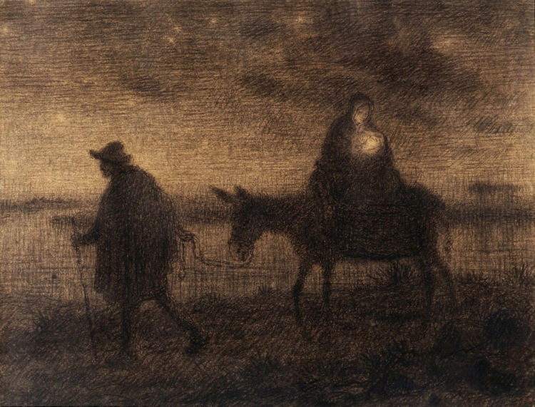 Jean François Millet French, 1814-1875 The Flight Into Egypt, c. 1864